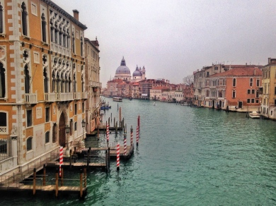 Salute church from the Accademia Bridge