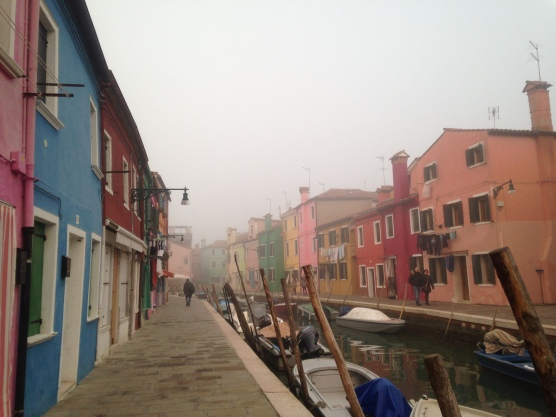 Burano in the fog