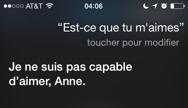 Bonjour Siri! (4/6)