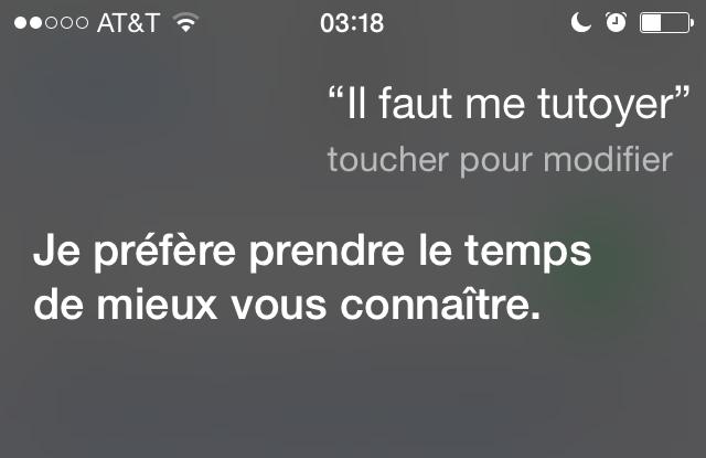 Bonjour Siri! (2/6)