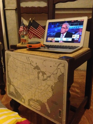 Super high tech election center!